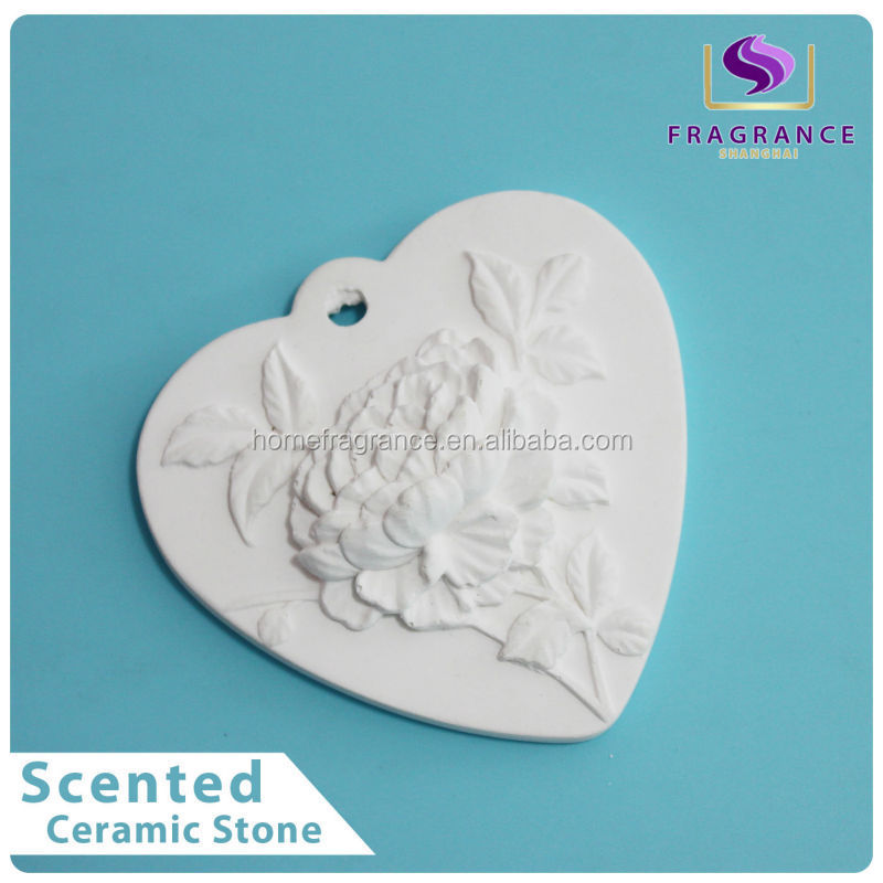 decorative reed flower diffuser heart-shaped scented clay diffuser stone