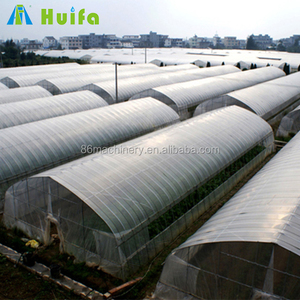 Easily assembled polyethylene plastic film indoor greenhouse for vegetable growing
