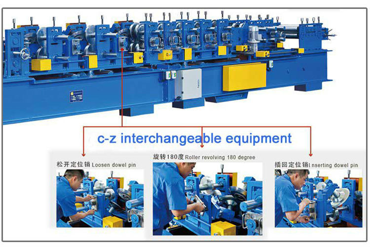Z light steel framing machine standing seam roll former automatic forming machine