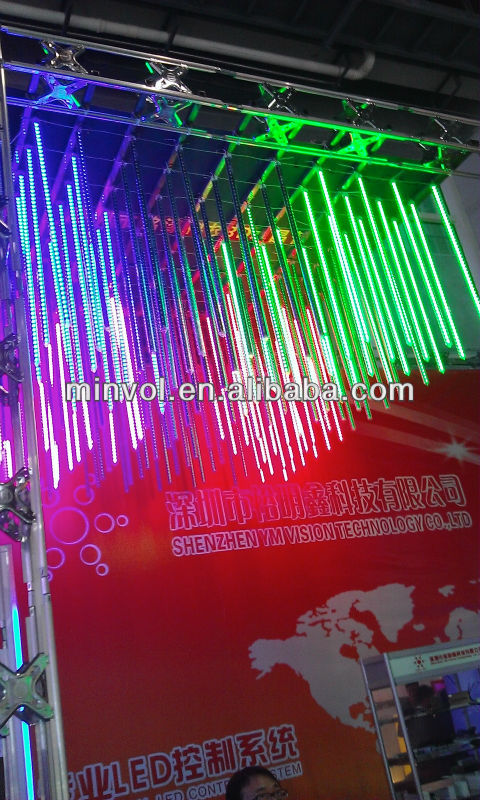 Multi Color DMX Effects LED Vertical Tube Falling Snow Christmas Lights