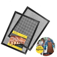 FDA-Approved Reusable Grill Accessories for Barbecue Non-Stick BBQ Grill & Baking Mesh