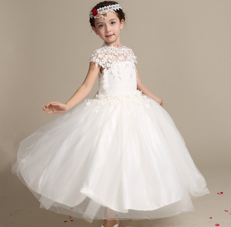 33cccc93ff16 wedding dress 2018 children long frock design white princess dresses for  kid cloing party wear frock