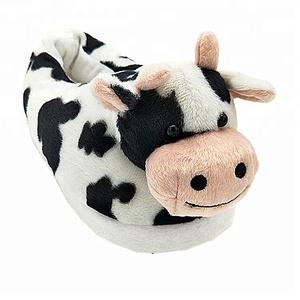 b05176fb7ea9e Plush Cow Slippers