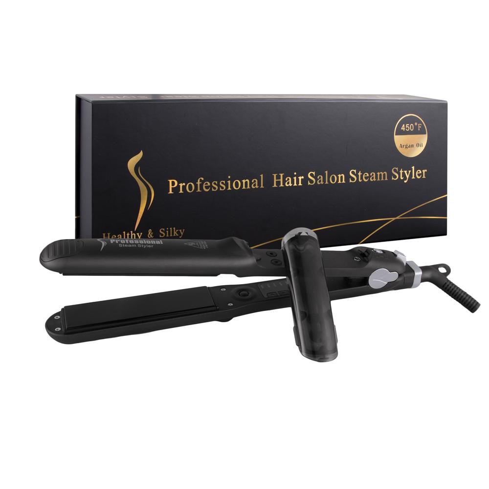New Pro Ceramic Steampod Hair Straightener Steam Flat Iron, N/a