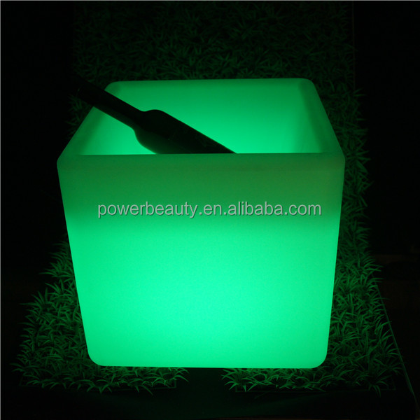waterproof glowing ice led cube container