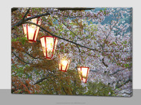 Blow on/off or timer function japanese picture led canvas wall art prints