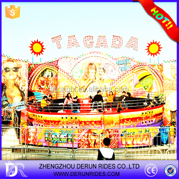 Fairground ride amusement park games factory price family rides disco tagada for theme park