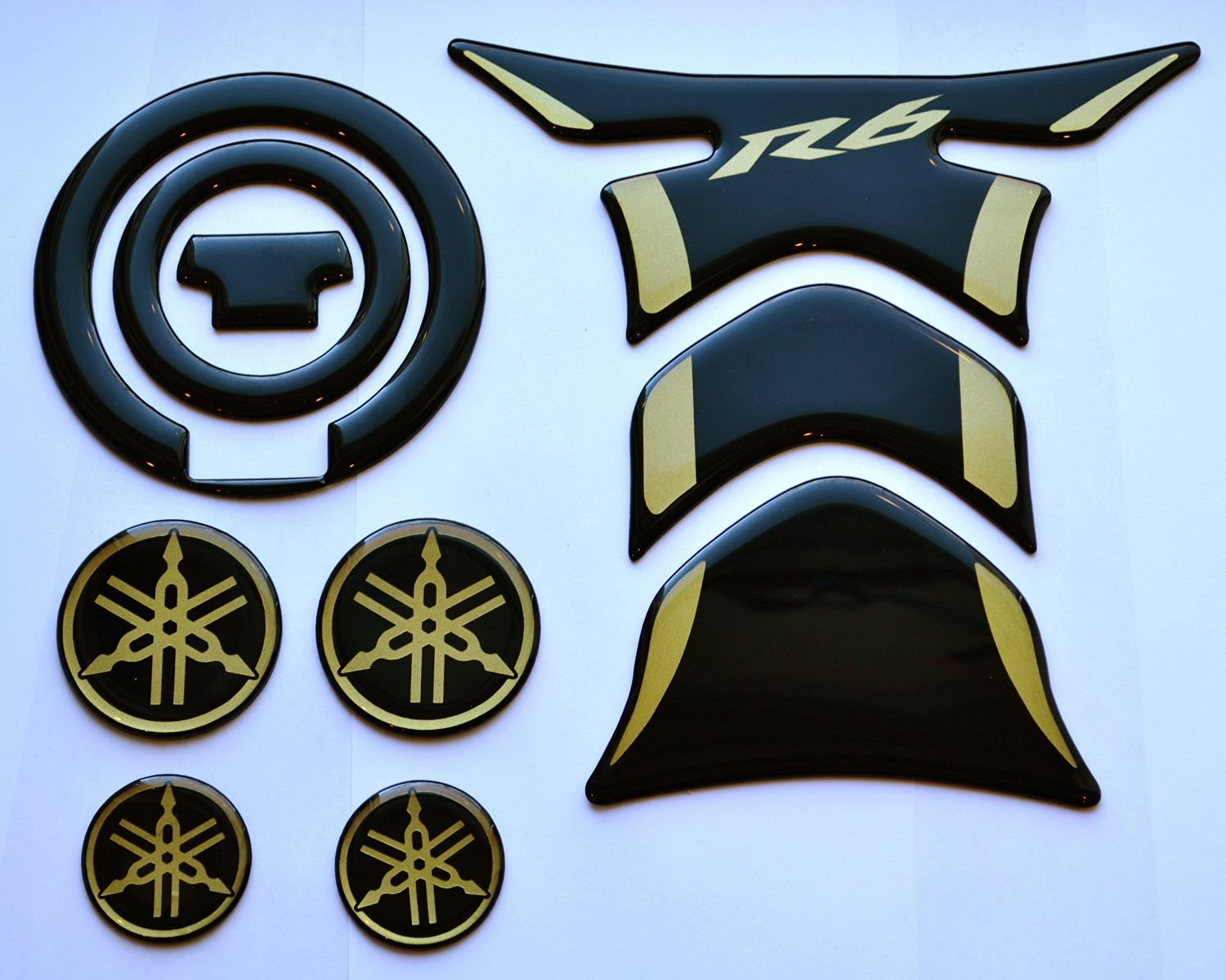 Fuel Tank Decal Gas Cap Pad Cover Sticker tankpad for Yamaha YZF R1 Blue RC
