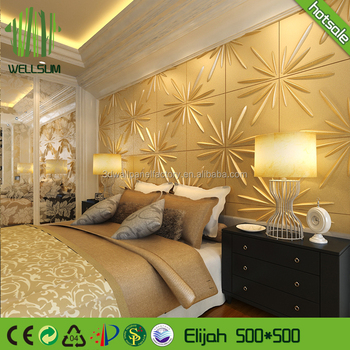 Pp Film 3d Wall Covering Wallpapers Type And Waterproof No Irritant