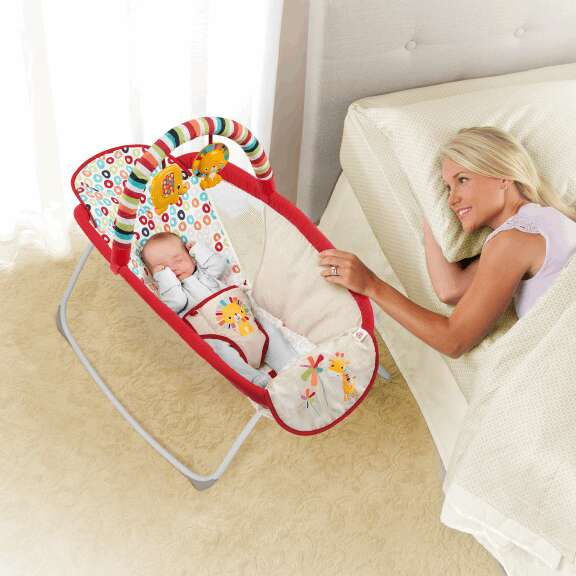 Metal Baby Crib Rocking Bed Baby Cradle Cot Foldable