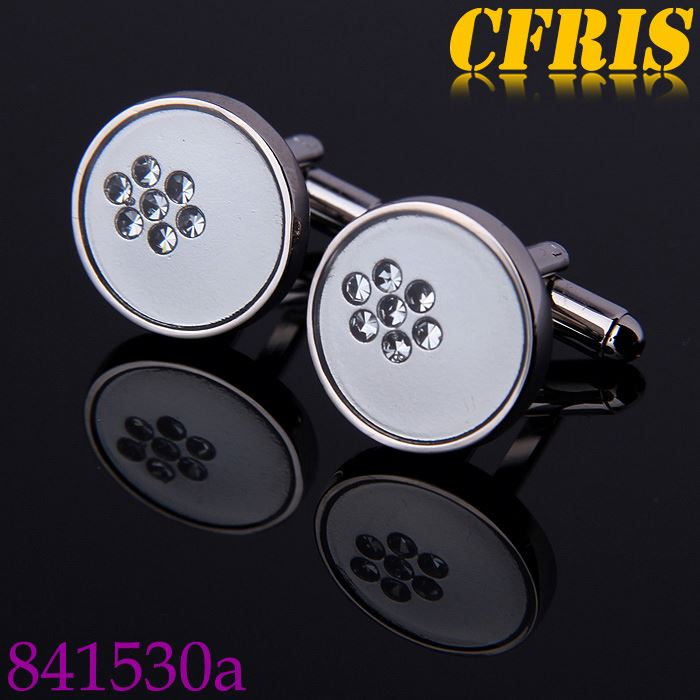 wholesale crystal inlaid plastic cufflinks