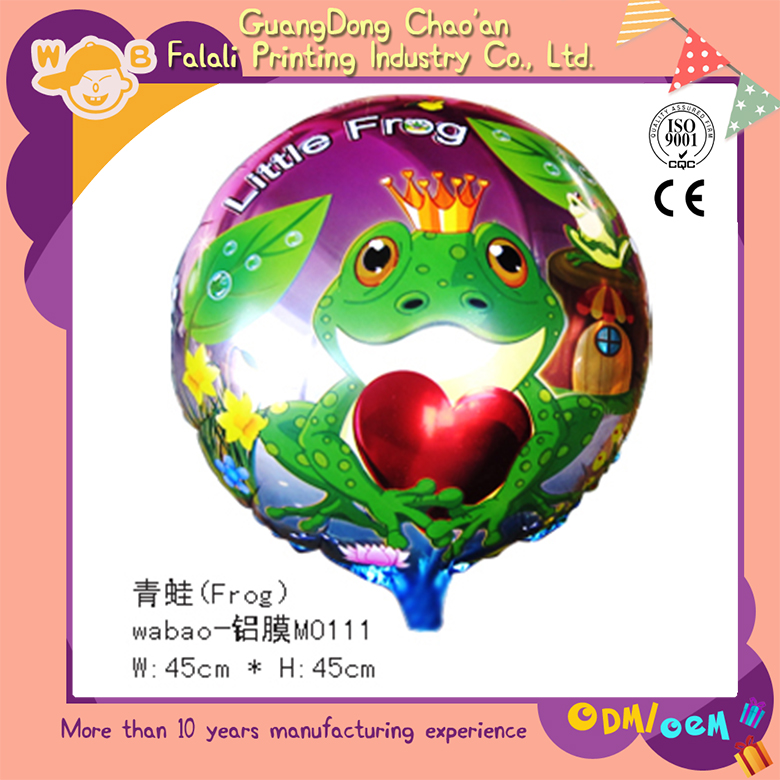 Reliable supplier print animal round shape metallic balloons for decorative
