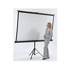 "Matte White Portable Projection Screen Viewing Area: 50"" H x 50"" W"