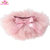 Solid Pink Newborn Baby Tutu Diaper Covers Chiffon Ruffle Baby Girl Tutu Bloomers With Bow