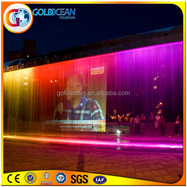 Dancing Musical Colorful Water Curtain Fountain For Fun
