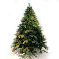 2017 hot selling artificial PE christmas tree foldable metal frame Xmas tree giant Indoor christmas tree