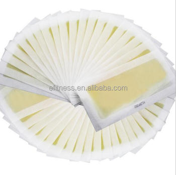 Disposable epilation strips / hair removal wax paper /depilatory Wax strips for leg and body hair remover