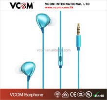 High end fashionable design Hi fi 3.5 mm mobile phone earbuds in ear earphone with mic