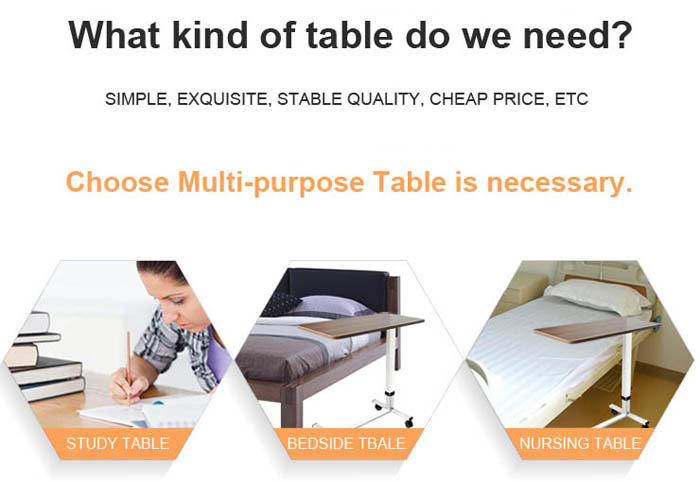 patient dining wooden overbed table