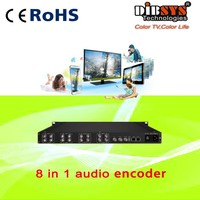 (ENC3080) tv and radio station 8channel analog to ip encoder audio asi
