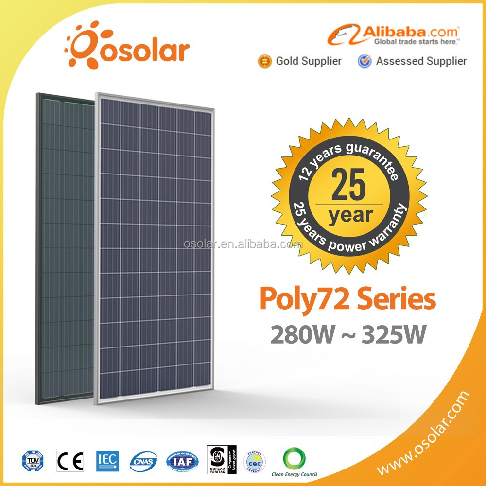 most efficient photovoltaic photovoltaic pv painel solar 300w with TUV CE certificate