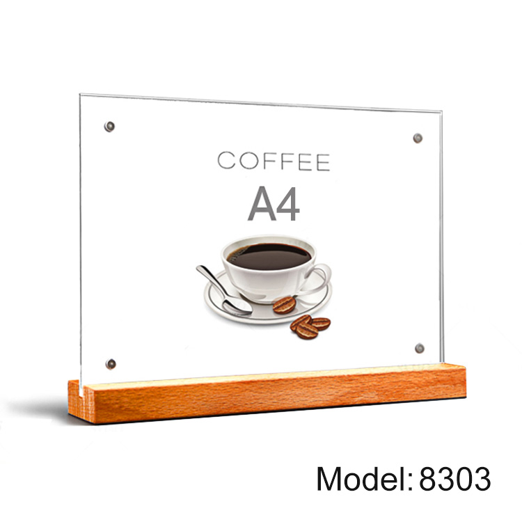 Responsible Acrylic Tabletop Menu Display Stand Menu Holder Desk Sign Menu Counter Display Stand Acrylic Block Frame Picture Photo Frame Fine Quality Office & School Supplies Card Holder & Note Holder