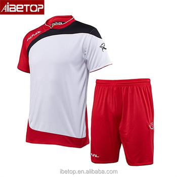 721c0507107cb red and white football jerseys blank dri fit t-shirts wholesale top thai  quality sublimated