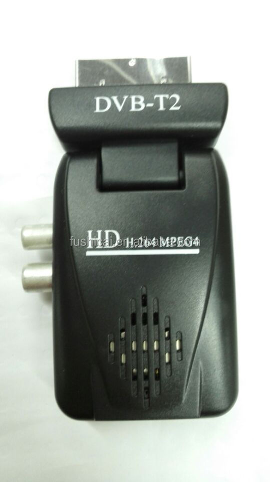 High quanlity <strong>HD</strong> <strong>MPEG4</strong> mini <strong>scart</strong> dvb t2 TV <strong>Tuner</strong> with SD/MMC Slot