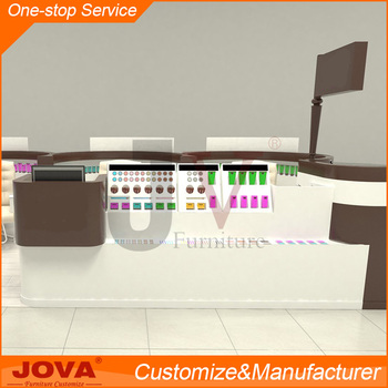 Unique Custom Nail Polish Display Stand Rack Bar Furniture Beauty Tables Salon Equipment