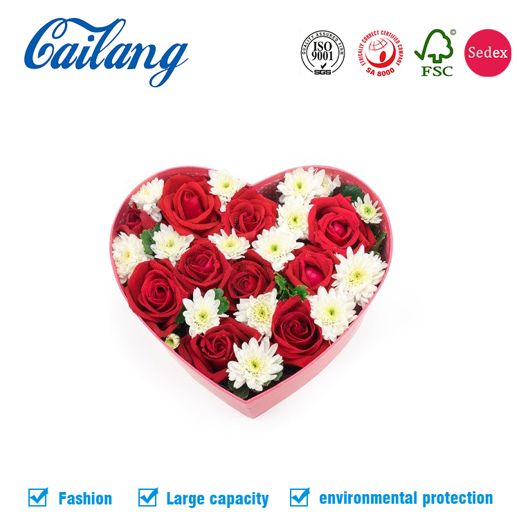 New Arrival Heart Shape/Round/Square Flower Box Gifts Wedding Decoration luxury