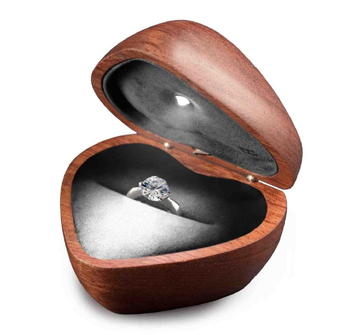 Led Light Jewelry Box Lovely Heartshaped Jewelry Box Wooden Jewelry