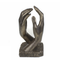 2018 custom Cold Bronze Hands Romantic Sculpture