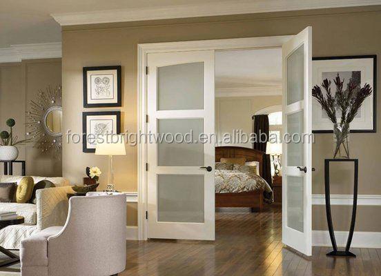 Moderne decoratieve glazen deur witte kleur, lage prijs dubbele ...