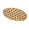 eco-friendly fashion Bamboo Deluxe Shower Floor and Bath Mat - Skid Resistant - Heavy Duty Solid Design.
