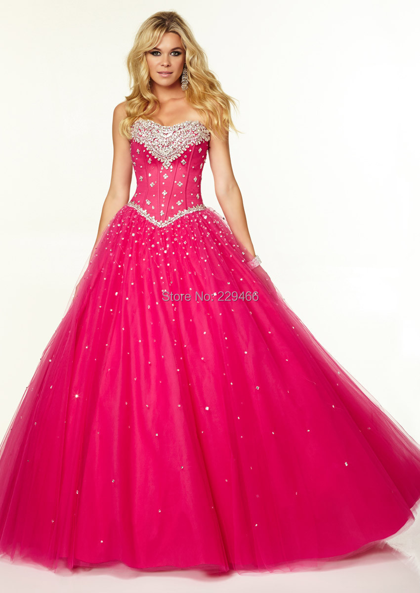 Buy Princess 2015 Prom Dresses Ball Gown Sweetheart Organza Evening ...