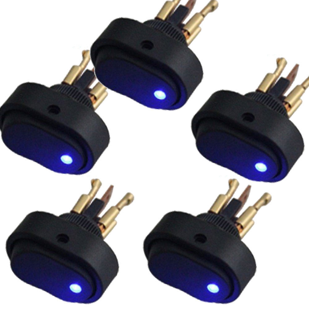 Blue Led Light 12v 30amp 30a Car Boat Auto Rocker Spst Toggle Switch ...