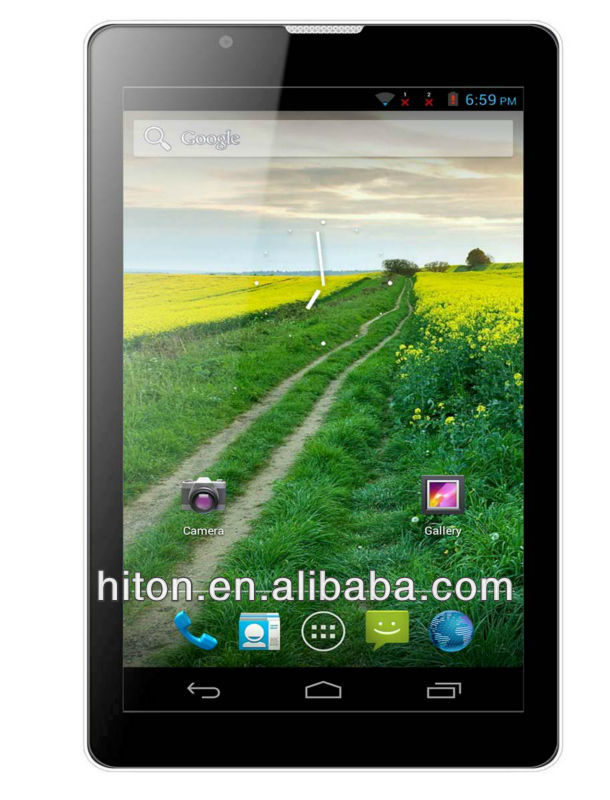 "China Cheapest MTK6577 dual-core 3g android tablet 7"" with GPS"