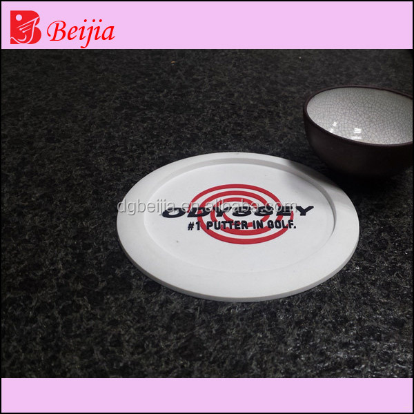Promotional Silicone Cup Mats Round Cup Coasters
