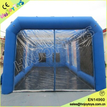 Hot sale Transparent PVC Blue Inflatable Used Car Spray Booth cheaper