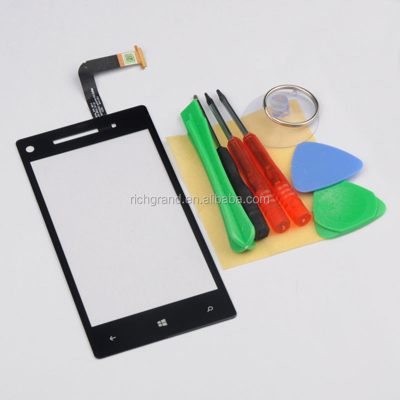 New Black Touch Screen Glass Digitizer Lens For HTC Windows Phone 8X Repair