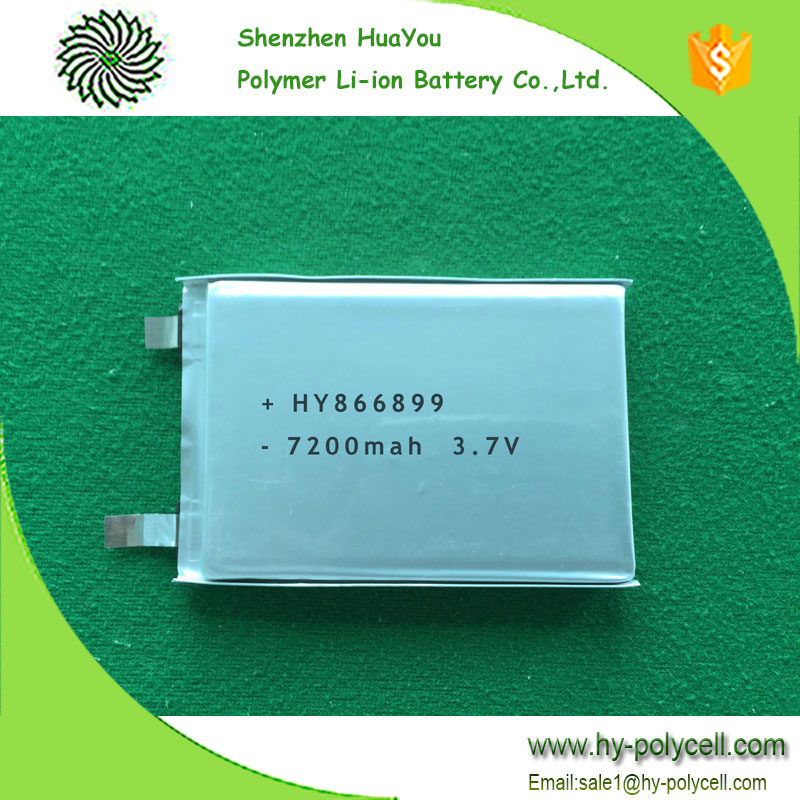 866899 3.7v 7200mah High Power Operated Outdoor Wireless Security Camera Li polymer Battery