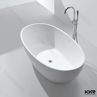 spa accessories oval shape white marble stone bathtub for sale