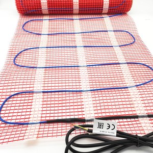 Floor radiant electric wall heating mat