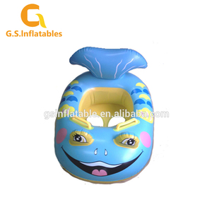Custom cartoon inflatable baby floating toy boats swim pool seat