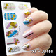 10pcs Nail Art Colorful 3D sticker Fashional Decoration JU198