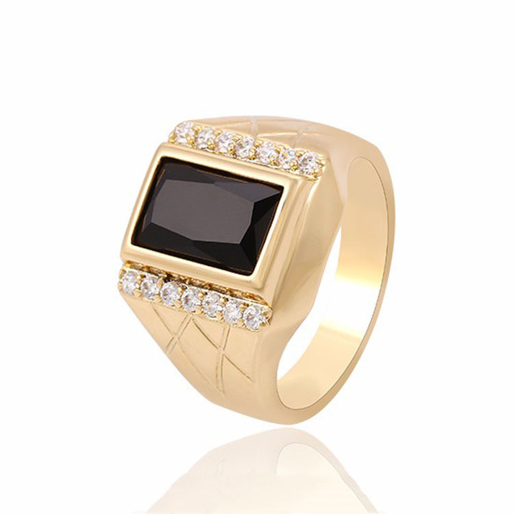 13495 China supplier mens ring, dubai gold stone rings for men jewelry