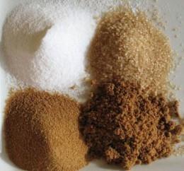 White Sugar, Light Brown Sugar And Brown Sugar