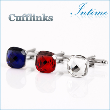 2014 new design High quality crystal cufflinks
