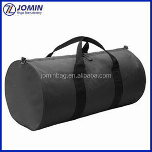 tried and tested utility barrel bag with fully encompassing webbing handles for extra strength,round shape travel bag