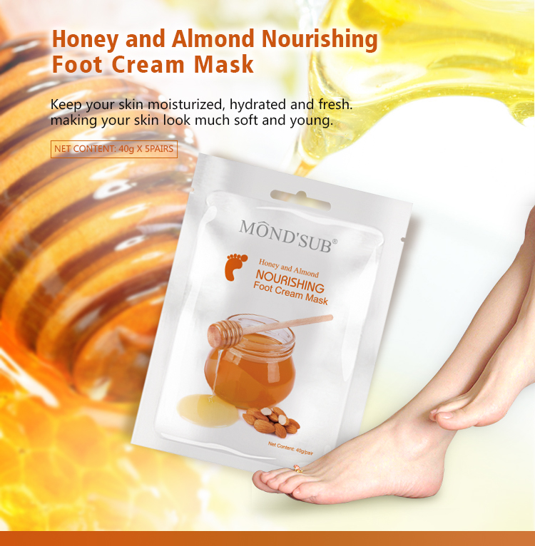 OEM Moisturizing foot skin care baby mask with honey natural ingredients